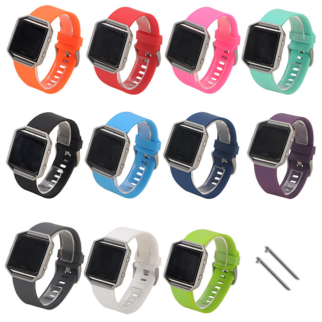 Watch Band for Fitbit Blaze Fitbit Classic Buckle Silicone Wrist Strap