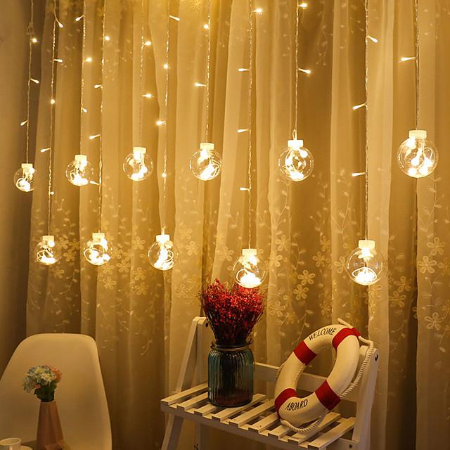 2.5m String Lights 12 LEDs 1pc Warm White Valentine's Day / Christmas Party / Decorative / Wedding 220 V