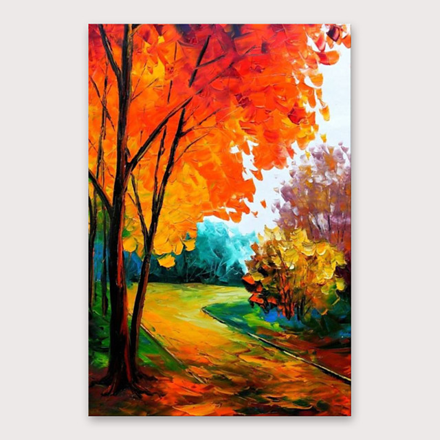 IARTS®Hand Painted Beautiful road Oil Painting   with Stretched Frame For Home Decoration