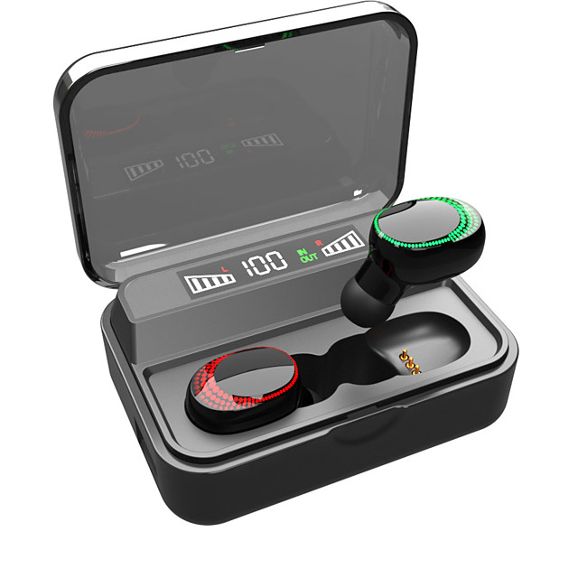 CARKIRA CS590B TWS True Wireless Earbuds Wireless Bluetooth 5.0 Dual Drivers with Microphone with Charging Box IPX5 Auto Pairing for Mobile Phone
