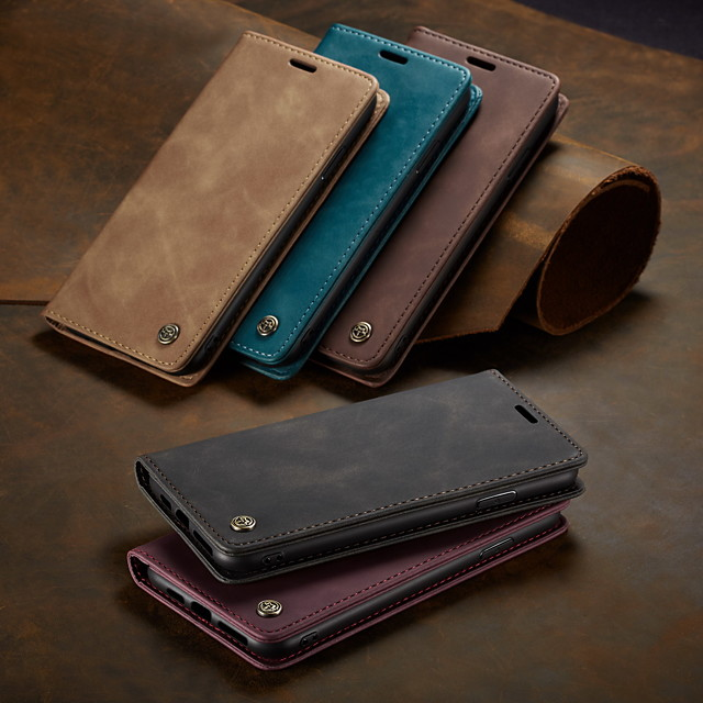 CaseMe New Business Leather Magnetic Flip Case For iPhone XS Max / X / XS / XR With Wallet Card Slot Stand Case Cover