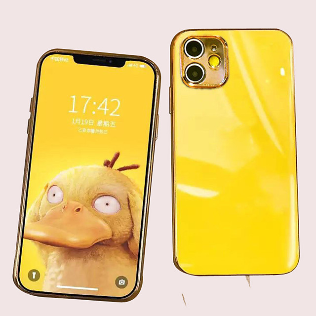Case For iPhone 11/11 Pro /11 Pro Max TPU Electroplating Back Cover with Back Camera Protection 2 in 1