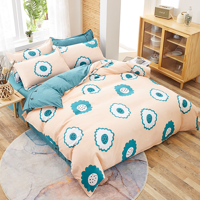 4pcs Kid Bed Cover Set Cartoon Duvet Cover Adult Child Bed Sheets And Pillowcases Comforter Bedding Set