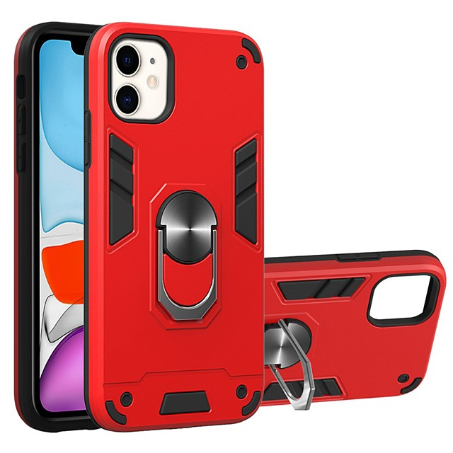 Case For Apple iPhone 11 / iPhone 11 Pro / iPhone 11 Pro Max Ring Holder Back Cover Armor TPU / PC