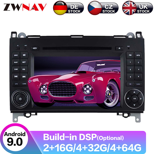 ZWNAV 7inch 2din Android 9.0 Car DVD Player Car MP5 Player GPS Auto Stereo Radio Car Multimedia Player For Mercedes Benz B200 / B-class / W245 / B170 / W169