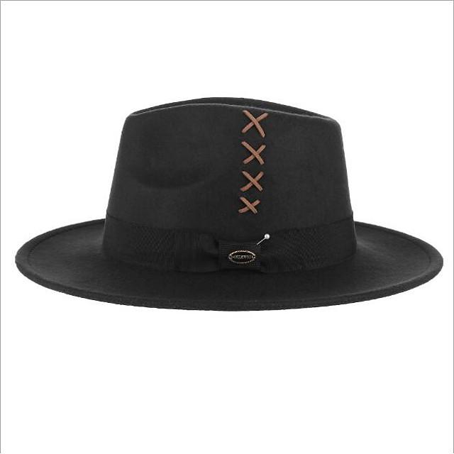 Hat Wool Felt Hats / Headdress with Cap 1 Piece Daily Wear / Outdoor Headpiece