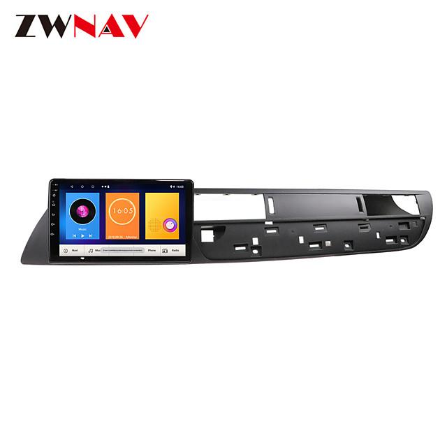 ZWNAV 9inch 1din 1GB 16GB Car GPS Navigation Car MP5 Player Car Multimedia Player Android 10.0 Car Audio Radio Car Video Player for Citroen C5 2010-2012