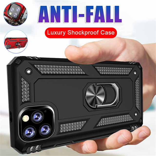 Case For Apple iPhone 11 / iPhone 11 Pro / iPhone 11 Pro Max Shockproof / Ring Holder Back Cover Armor Silica Gel / PC
