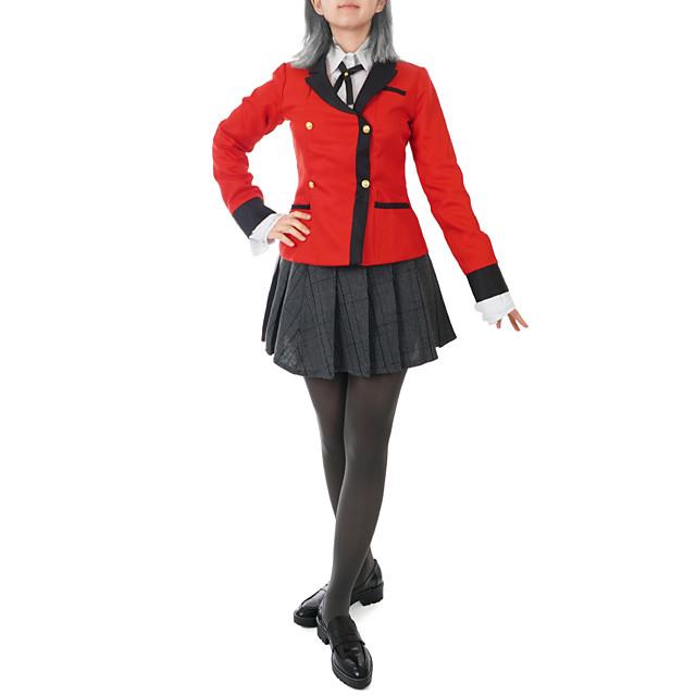 Inspired by Kakegurui / Compulsive Gambler Kirari Momobami Anime Cosplay Costumes Japanese Cosplay Suits Coat Blouse Skirt For Women's / Bow