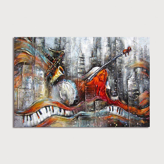 Hand Painted Canvas Oilpainting Abstract Home Decoration with Frame Painting Ready to Hang