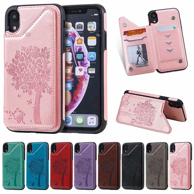 Case For Apple iPhone XS / iPhone XR / iPhone XS Max Card Holder / Shockproof / Pattern Back Cover Cartoon PU Leather