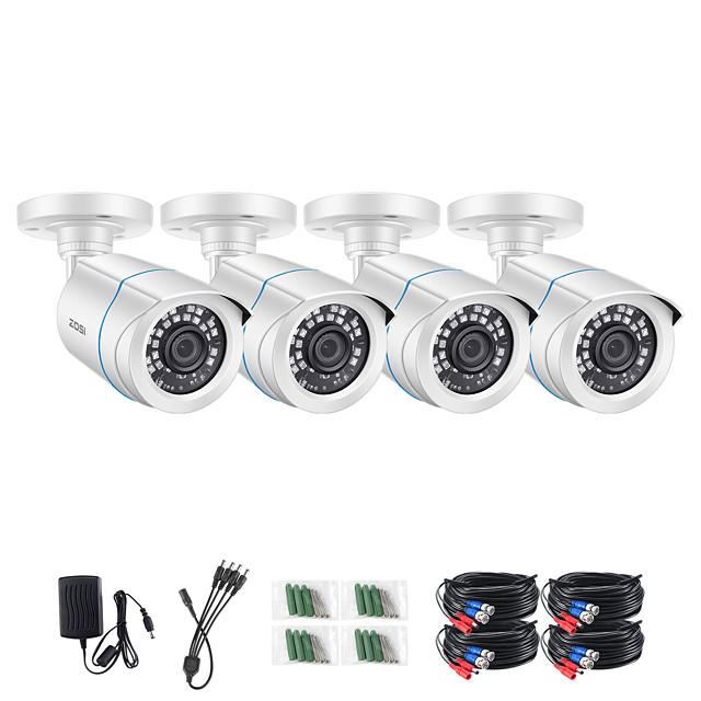 ZOSI 4pcs/lot 1080p HD TVI CVI CVBS AHD CCTV Security Camera 65ft Night Vision Outdoor Whetherproof Surveillance Camera Kit for Surveillance System DVR Kit
