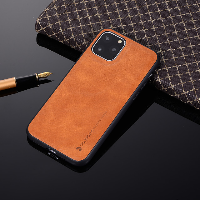 Case For Apple iPhone 11 / iPhone 11 Pro / iPhone 11 Pro Max Shockproof Back Cover Solid Colored PU Leather