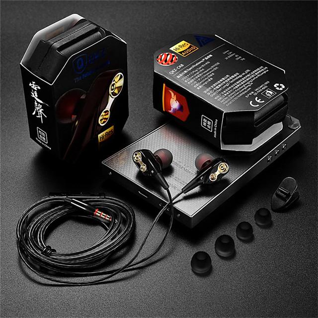 QKZ Tingsheng CK8 Explosion In-Ear Double-Motion Running Game Music Headphones HIFI Headphones