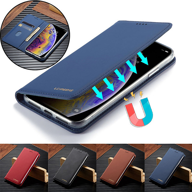 Luxury Case for iPhone 11 11 Pro 11 Pro Max X XS XR XS Max 8 8 Plus 7 7 Plus 6S 6S Plus Phone Case Leather Flip Wallet Magnetic Cover With Card