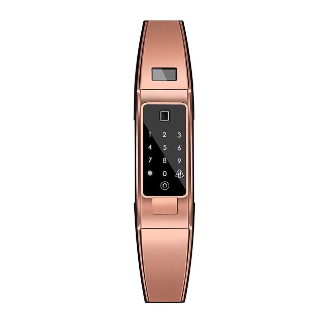 WAFU Automatic Fingerprint Password Door Lock Smart Digital Home Lock for Hotel Apartment Office Semiconductor Intelligent Fingerprint Door Lock(WF-014)