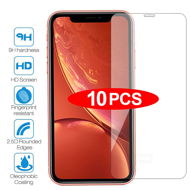 10Pcs Tempered Glass For iPhone 11Pro Max 6 6s 7 8 Plus 5 5s 5c SE Screen Protective Film For iPhone X XS Max XR Glass Protector