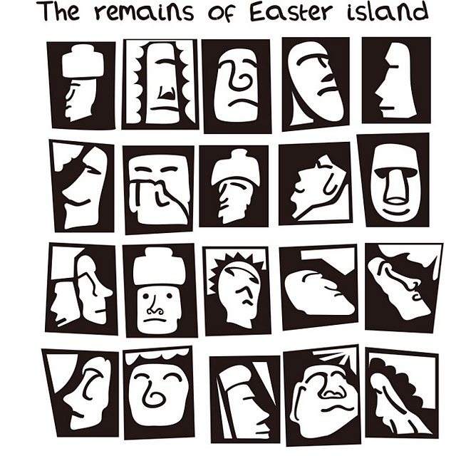 Easter Island Wall Stickers Plane Wall Stickers Decorative Wall Stickers, PVC Home Decoration Wall Decal Wall Decoration 1pc