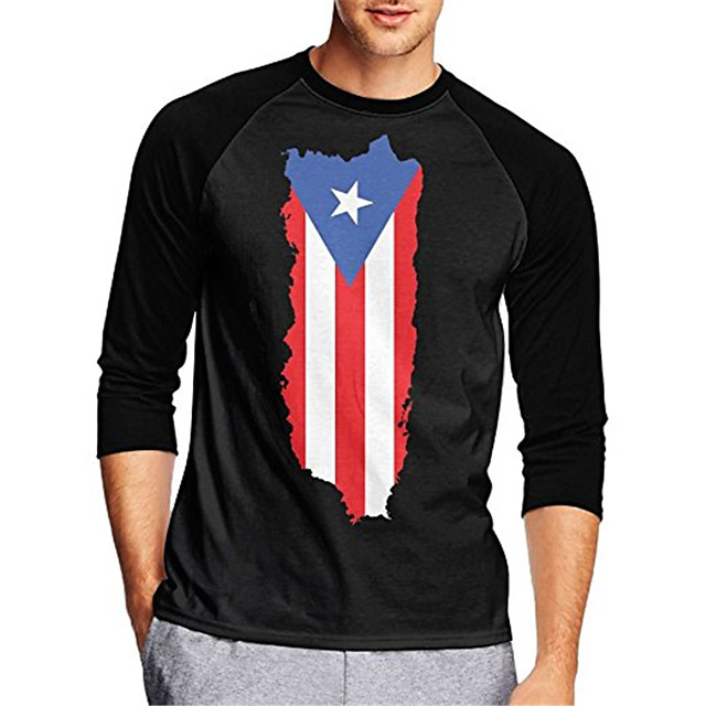 21Grams Men's Long Sleeve Cycling Jersey Downhill Jersey Dirt Bike Jersey Black American / USA National Flag Bike Jersey Top Mountain Bike MTB Road Bike Cycling UV Resistant Breathable Quick Dry