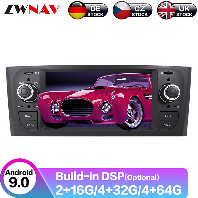 ZWNAV 6.2inch 2din Android 9.0 4GB 64GB Car multimedia player Car GPS Navigation Car MP5 Player radio tape recorder For FIAT Punto 2005 For Fiat Linea 2007