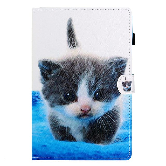 Case For Samsung Galaxy Tab A2 10.5(2018) / Samsung Tab A 10.1(2019)T510 / Samsung Tab A 8.0(2019)T290/295 Card Holder / with Stand / Flip Full Body Cases Cat PU Leather