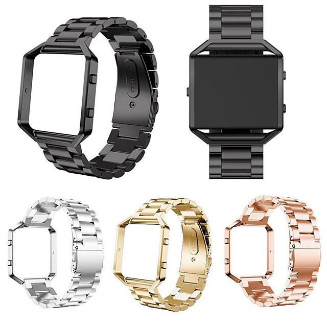 Watch Band for Fitbit Blaze Fitbit Sport Band / Classic Buckle Stainless Steel Wrist Strap