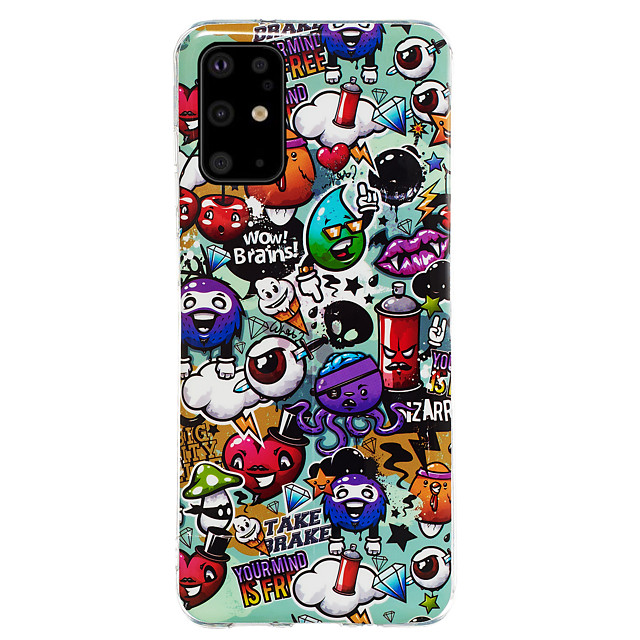 Case For Samsung Galaxy S9 / S9 Plus / Galaxy A7(2018) Glow in the Dark / Pattern Back Cover Animal / Cartoon TPU