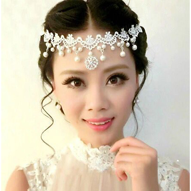 Women's Hair Jewelry For Wedding Wedding Geometrical Pearl Alloy White 1 pc