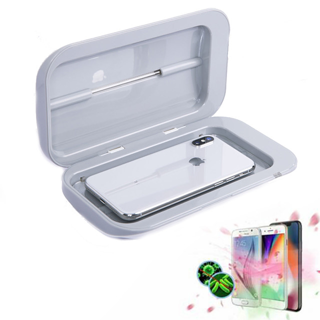 Portable UV Sterilizer Cabinet Phone Disinfectant UV Cleaner Mobile Double Ultraviolet Disinfection Lamp Mini sterilization Box