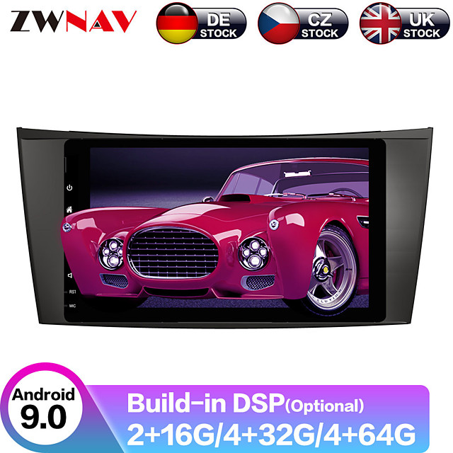 ZWNAV 8inch 2din 4GB 64GB DSP Android 9.0 Car MP5 Player GPS navigation car Multimedia Player radio tape recorder For Benz W211/W219/W463 2002-2009