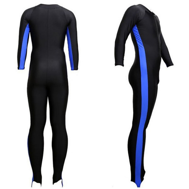 Men's Rash Guard Dive Skin Suit Top Bottoms UV Sun Protection Breathable Full Body 2-Piece Front Zip - Swimming Diving Water Sports Patchwork Spring Summer
