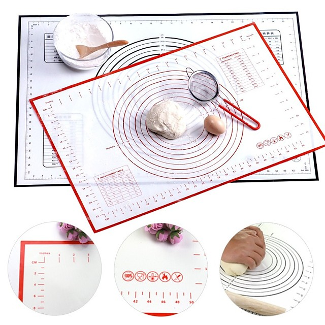 Multi-size Silicone Baking Mat Sheet With Scale Non Stick Rolling Dough Pad Kneading Mat Kitchen Cooking Pastry Sheet Oven Liner