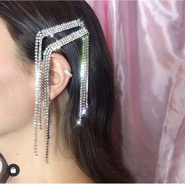 Women's Hair Claws For Party / Evening Masquerade Street Party & Evening Rhinestone Silver Plated Alloy White  / Silver Silver 1pcs