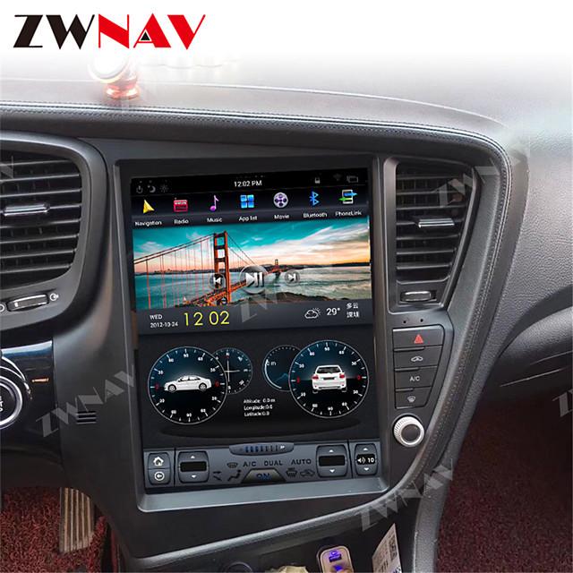 ZWNAV 12.1inch 1din 4GB 64GB Tesla style Android 8.1 Car GPS Navigation car stereo Multimedia player car DVD Player For KIA Optima / KIA K5 2010-2013
