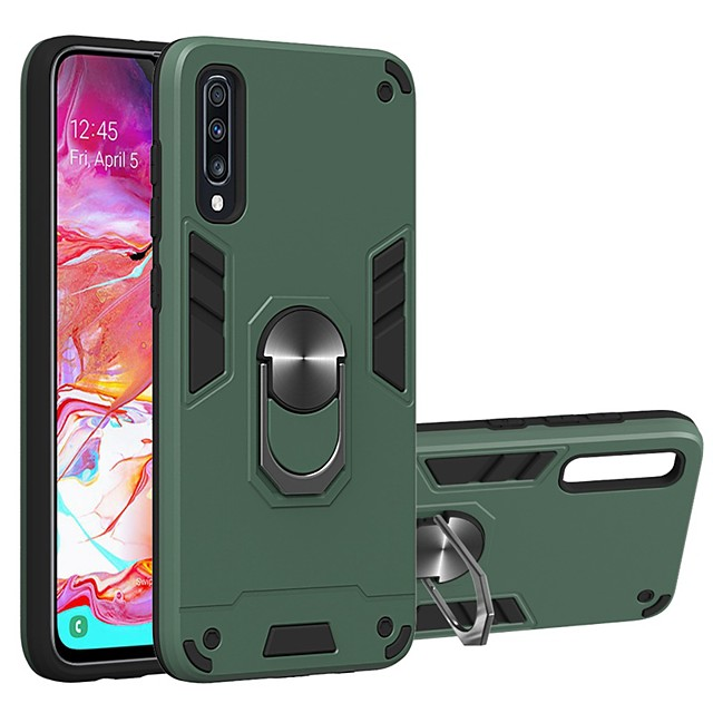 Case For Samsung Galaxy A10/A30/A50 Two-in-one Ring Holder Back Cover Armor TPU / PC For Galaxy A20/A30S/A40/M10/A50S/A60/A70/A70S
