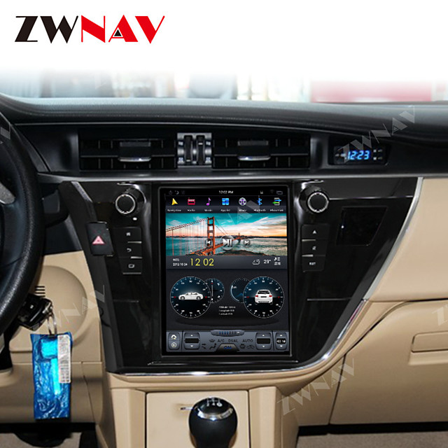 ZWNAV 10.4Inch 1din 4GB 64GB Tesla style Android 8.1 Car GPS Navigation Car Auto multimedia player Car MP5 Player radio tape recorder For Toyota Corolla 2014-2017