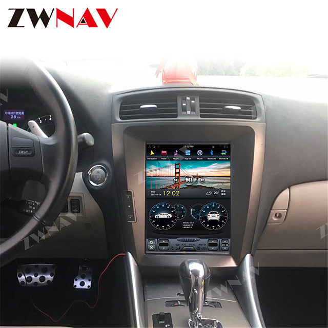 ZWNAV 10.4inch 1din 4GB 64GB Tesla Style Android 8.1 DSP Car GPS navigation radio tape recorder Car MP5 Player Car Multimedia player For LEXUS IS200 IS250 IS300 IS350