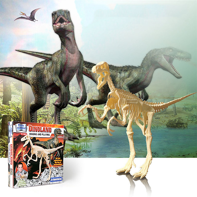 3D Puzzle Dinosaur Fossil Dinosaur Figure Dinosaur Animals Cute Parent-Child Interaction Plastic Kid's Child's All Toy Gift
