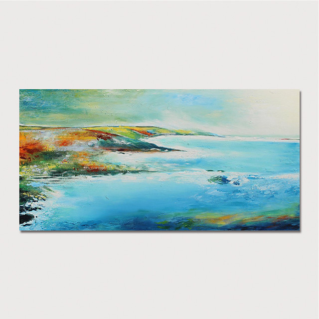 Hand Painted Canvas Oilpainting Abstract Landscape by Knife Home Decoration with Frame Painting Ready to Hang