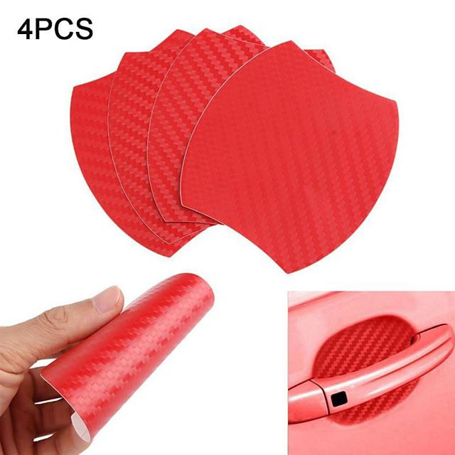 4 Pcs Car Door Handle Scratches Protective Films Clear Side Sticker Scratches Car Door Protector Films-black red sliver blue