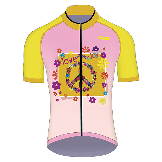 21Grams Men's Women's Short Sleeve Cycling Jersey Pink Funny Bike Jersey Top Mountain Bike MTB Road Bike Cycling UV Resistant Breathable Quick Dry Sports Clothing Apparel / Stretchy / Race Fit