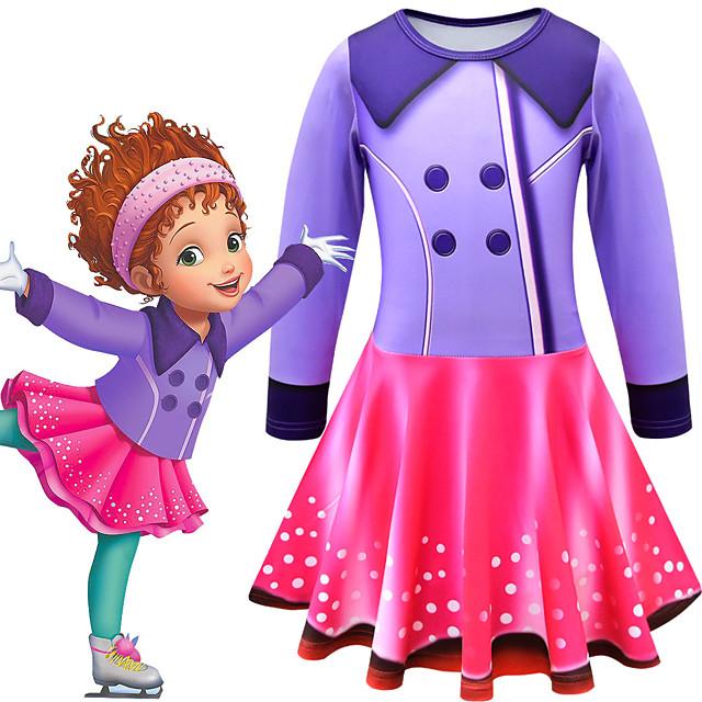 Fancy Nancy Dress Cosplay Costume Girls' Movie Cosplay Cosplay Costume Party Purple Dress Polyster