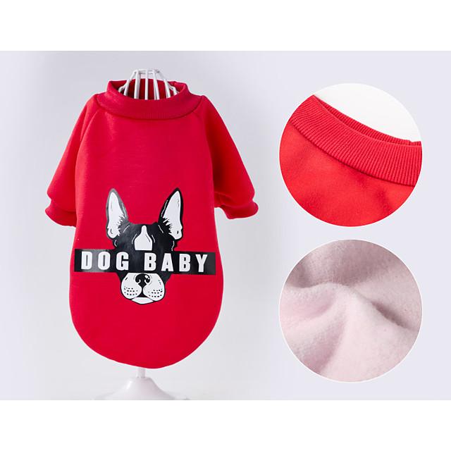 Cane Vestiti Lettere & Numeri Sportivo Abbigliamento per cani Vestiti del cucciolo Abiti per cani Traspirante Rosso Costume per ragazza e ragazzo cane Cotone XS S M