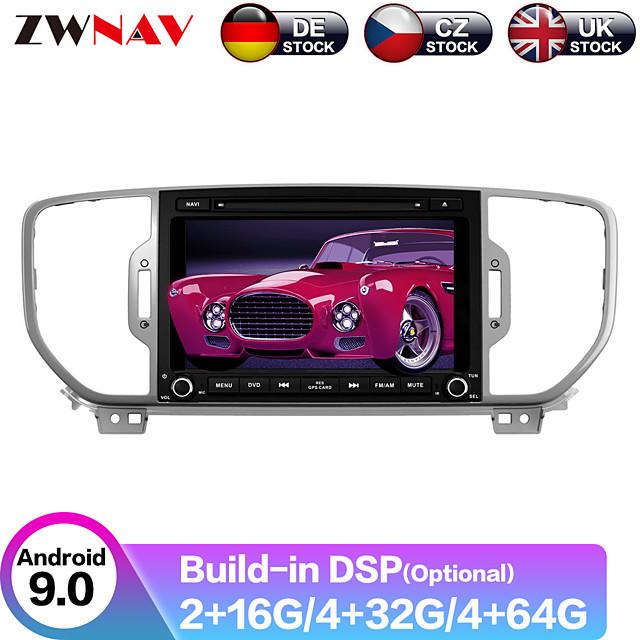 ZWNAV 9inch 1din 4GB 64GB Android 9 Octa Core car dvd player Car gps navigation radio tape recorder stereo for KIA sportage 2016 KX5