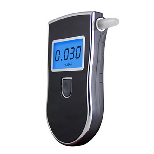 Portable Digital LCD Alcohol Breath Tester 818 Direct Testing Process LCD Indication LCD Display Audio Warning Low Woltage Indication Auto Power Off