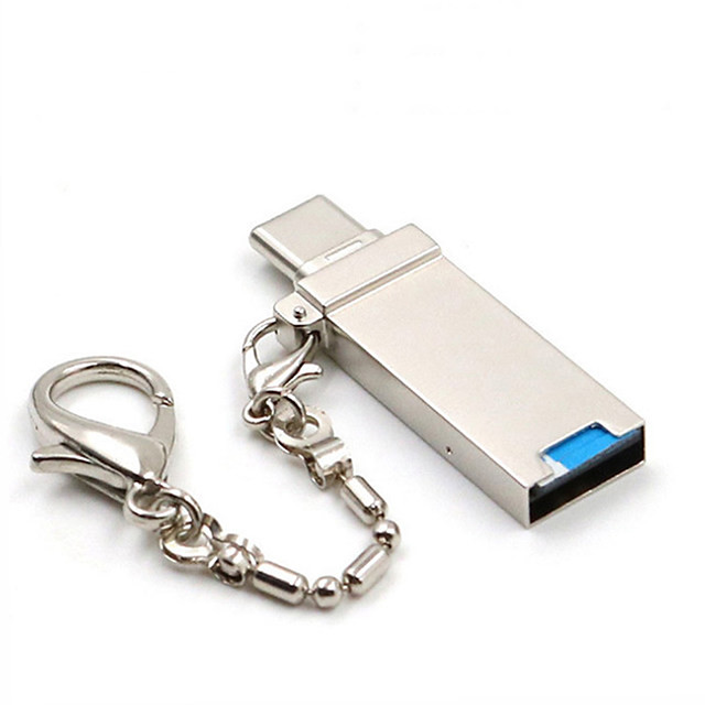 Mini Keychain Type C OTG Memory Card Reader Adapter for Micro SD/TF PC Laptop Computer