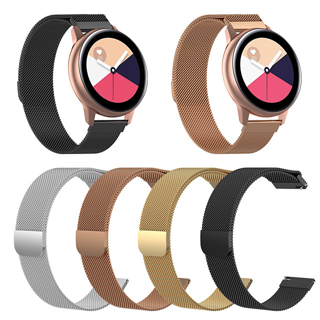 Watch Band for Galaxy watch 46mm/Gear S3 Frontier / Gear S3 Classic / Gear 2 R380 Samsung Galaxy Milanese Loop Stainless Steel Wrist Strap