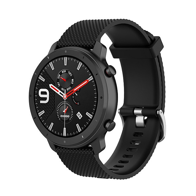 Watch Band for TicWatch Pro / TicWatch S2 / TicWatch E2 TicWatch Classic Buckle Silicone Wrist Strap