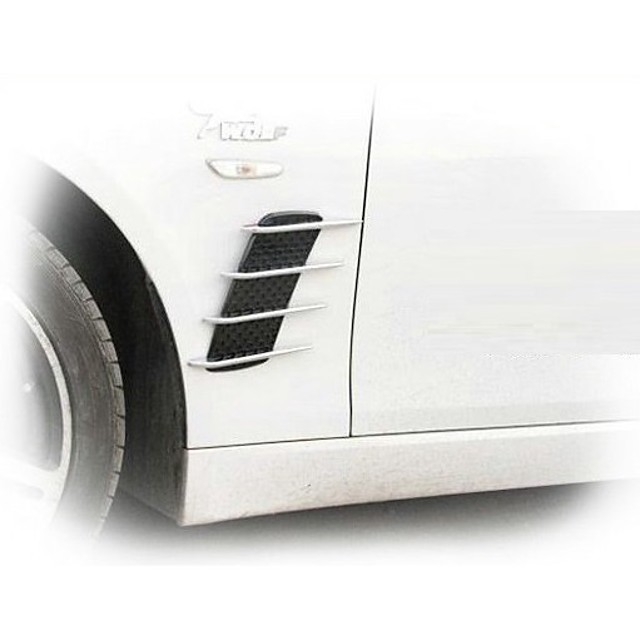 shark simulate air vents hood decoration ventilation openings fake shark decals strong