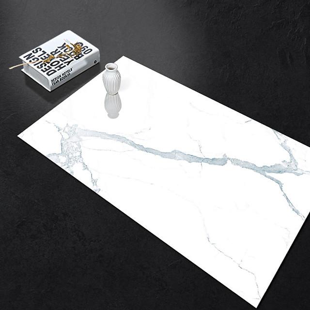 Self-adhesive Marble Floor Tile Wall Sticker PVC Oil-proof Waterproof for Home Living Room Bedroom Kitchen Bathroom 60*90cm